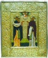 Преподобные Зосима и Савватий Соловецкие. Икона. 1-я пол. XVI в. (ГММК)