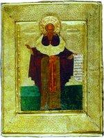 Прп. Зосима Соловецкий. Икона. Кон. XVI в. (ГММК)