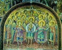 Собор небесных сил бесплотных. Роспись лити собора мон-ря Дохиар. 1568 г.