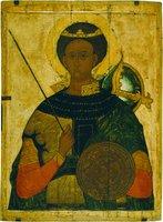 Вмч. Димитрий Солунский. Икона. XVI в. (ГТГ)