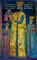 Молдав. господарь Александру Лэпушняну с семьей. Роспись лити кафоликона мон-ря Дохиар. 1568 г.