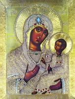 Грузинская икона Божией Матери. XVII в. (ц. Воскресения Христова в Сокольниках, Москва)