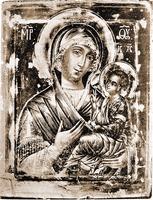 Грузинская икона Божией Матери из ц. Св. Троицы в Никитниках в Москве. 1654 г. (?)