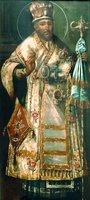 Свт. Иннокентий (Кульчицкий), еп. Иркутский. Икона. Нач. XIX в. (собор Знаменского мон-ря в Иркутске)