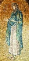 Св. Иоанн Предтеча. Мозаика юж. люнета ц. Богородицы Паммакаристос (Фетхие-джами) в К-поле. Ок. 1315 г.