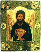 Св. Иоанн Предтеча Ангел пустыни, с житием и избранными святыми. Икона. 1-я пол. XVII в. (ГТГ)