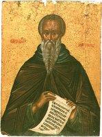 Прп. Иоанн Лествичник. Икона. XVII в. (мон-рь Дионисиат на Афоне)