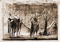 Проповедь св. Иоанна Предтечи. Миниатюра из Минология Василия II. 1-я четв. XI в. (Vat. gr. 1613. P. 300)