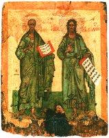 Ап. Тимофей и св. Иоанн Предтеча. Икона. Сер. - 2-я пол. XV в. (ЦМиАР)