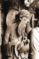 Св. Иоанн Предтеча. Скульптура сев. портала собора Нотр-Дам в Шартре. 1200-1210