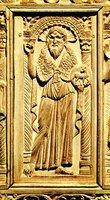 Св. Иоанн Предтеча. Рельеф трона архиеп. Максимиана. 546-556 гг. (Архиепископский музей, Равенна)