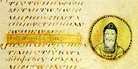 Прп. Иоанн Лествичник. Миниатюра из �Sacra parallela� прп. Иоанна Дамаскина. Сер. IX в. (Paris. gr. 923. Fol. 146r)
