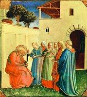 Наречение имени Иоанна прав. Захарией. Роспись мон-ря Сан-Марко во Флоренции 1451-1453 гг. Мастер фра Анджелико (Музей фра Анджелико во Флоренции)
