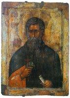 Прп. Иоанн Рильский. Икона. 1335-1343 гг. (Музей Рильского мон-ря)