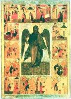 Св. Иоанн Предтеча Ангел пустыни, с житием. Икона. 2-я пол. XVI в. (СИХМ)