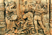 Усекновение главы св. Иоанна Предтечи. Рельеф алтаря. 1515-1553 гг. Мастер Ч. Бонгарт (?) (ГЭ)