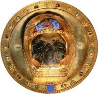 Реликварий с частью главы св. Иоанна Предтечи (сокровищница храма Пресв. Богородицы в Амьене, Франция)