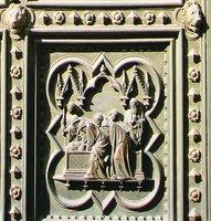 Погребение св. Иоанна Предтечи. Клеймо юж. ворот Флорентийского баптистерия. Мастер А. Пизано. 1330 г.