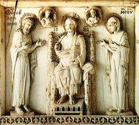 Деисус. Фрагмент Арбавильского триптиха. X в. (Лувр, Париж)