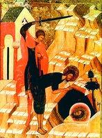 Усекновение главы св. Иоанна Предтечи. Икона. Кон. XV - 1-я пол. XVI в. (КМРИ)