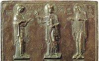 Деисус. Фрагмент крышки реликвария. XI в. (Музей Бенаки, Афины)