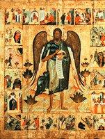 Св. Иоанн Предтеча Ангел пустыни, с житием. Икона. 1551 г. (ЯМЗ)