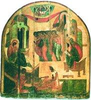 Рождество св. Иоанна Предтечи. Икона. 30-е гг. XVI в. (НГОМЗ)