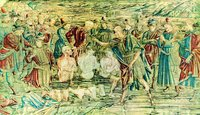 Крещение св. Иоанном иудеев. Шитый покров на алтарь баптистерия Сан-Джованни. 1466-1487 гг. (Музей собора Санта-Мария дель Фьоре во Флоренции)