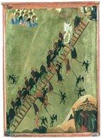 Видение Лествицы прп. Иоанном Лествичником. Икона. Кон. XII в. (мон-рь вмц. Екатерины на Синае)