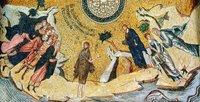 Встреча Иисуса Христа со св. Иоанном Предтечей. Мозаика купола кафоликона мон-ря Хора (Кахрие-джами) в К-поле. 1316-1321 гг.