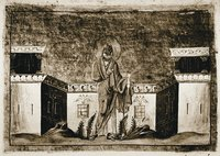 Прор. Иоиль. Миниатюра из Минология Василия II. 1-я четв. XI в. (Vat. gr. 1613. P. 124)