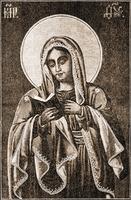 Калужская икона Божией Матери. Литография из кн.