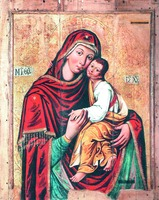 Икона Божией Матери «Умиление» из с. Местковичи. 1656 г. (НХМ РБ)