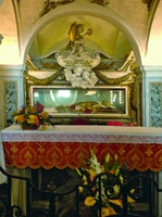 Рака с мощами сщмч. Кириака, еп. Иерусалимского, в кафедральном соборе г. Анконы, Италия. 1757–1760 гг.