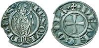 Сщмч. Кириак, еп. Иерусалимский. Крест. Гроссо. Аверс. Реверс. XIII–XIV вв.