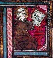 Блж. Иероним. Миниатюра из Библии. XIII в. (Auxerre. Bibl. man. 1. Fol. 1)