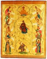 Похвала Божией Матери. Икона. XVI в. (ВГИАХМЗ)
