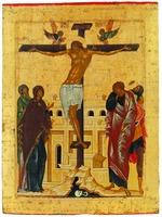 Распятие Господне. Икона из праздничного ряда иконостаса Успенского собора Кирилло-Белозерского мон-ря 1497 г. (КБМЗ)