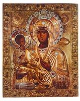 Икона Божией Матери «Троеручица». Сер. XIV в. (мон-рь Хиландар)