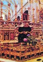 Место погребения святых Венедикта и Схоластика. Базилика мон-ря Монте-Кассино в Италии. Фотография. Кон. XX в.