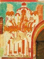 Первый Вселенский собор. Дионисий. 1502-1503 гг. Роспись ц. Рождества Богородицы Ферапонтова мон-ря