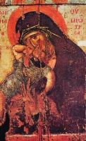 Евхаитская икона Божией Матери. XIV в. (мон-рь Хиландар)