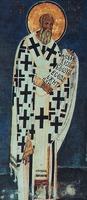 Свт. Афанасий Великий. Роспись Богородичной ц. мон-ря Студеница в Сербии. 1208 - 1209 гг.