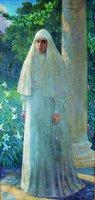 Вел. кнг. прмц. Елисавета Феодоровна. Портрет. 1917 г. Худож. И. М. Митрофанов (Гос. литературный музей И. С. Тургенева, Орёл)