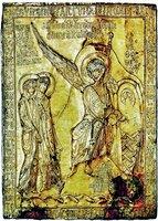 Жены-мироносицы у Гроба Господня. Фрагмент реликвария. 1150-1200 гг. (Лувр, Париж)
