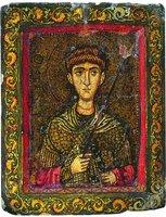 Вмч. Димитрий Солунский. Икона. 2-я пол. XII в. (мон-рь вмц. Екатерины на Синае)