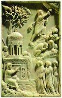 Жены-мироносицы у Гроба Господня. Аворий. Ок. 400 г. (Баварский национальный музей, Мюнхен)