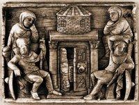 Жены-мироносицы у Гроба Господня. Аворий IV-V вв. (Британский музей, Лондон)