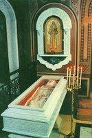 Рака с мощами вел. кнг. прмц. Елисаветы Феодоровны в храме равноап. Марии Магдалины в Иерусалиме