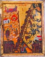 Видение Лествицы прп. Иоанном Лествичником. Икона. XVI в. (мон-рь Пантакратор, Афон)